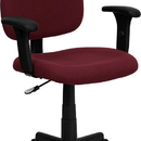 Flash Furniture BT-660-1-BY-GG Mid Back Ergonomic Task Chair With Adjustable Arms