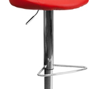 Flash Furniture CH-82028-MOD-RED-GG Contemporary Red Vinyl Bucket Seat Adjustable Height Bar Stool with Chrome Base