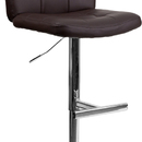 Flash Furniture DS-829-BRN-GG Contemporary Tufted Brown Vinyl Adjustable Height Bar Stool with Chrome Base