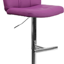 Flash Furniture DS-829-PUR-GG Contemporary Tufted Purple Vinyl Adjustable Height Bar Stool with Chrome Base