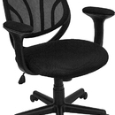 Flash Furniture GO-WY-05-A-GG Black Mid Back Mesh Computer Task Chair with Arms