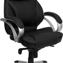 Flash Furniture H-9626L-2-GG Black Leather Executive Office Chair