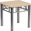 Flash Furniture JB-6-END-NAT-GG Natural Laminate End Table with Silver Steel Frame
