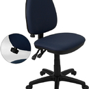 Flash Furniture WL-A654MG-NVY-GG Navy Blue Fabric Multi-Function Task Chair with Adjustable Lumbar Support