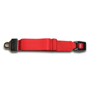 Backboard Strap 5ft with Seatbelt Buckle and Loops Red