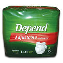 Depend Adjustable Underwear Lg/Xlg 44