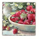 Counter Art CART11924 Strawberries in a Bowl Single Tumbled Tile Coaster