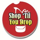 Counter Art CART12028 Shop 'til You Drop Car Coaster