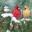White Mountain Puzzles WHITE293 Cardinals and Friends 550 piece Puzzle