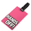 "Travelling Luggage Tag with ID Card - ""Hands Off"", Christmas Gift, Price/6 Pcs"