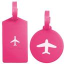 TopTie Set of 2 Luggage Tags Travel Accessories With Name Cards - Round & Square