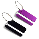 TopTie 2 Pcs Luggage Tag Aluminium Alloy W/ Name Card Metal Wire Travel Accessories