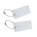 TopTie Set of 2 Luggage Tags Metal Tag & Wire ID Name Card Travel Accessories