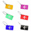TopTie Bulk Aluminium Alloy Luggage Tags Pack of 6 ID Name Card with Metal Wire Travel Accessories
