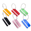 TOPTIE 6 Pcs Aluminium Alloy Luggage Tags w/ Name Card & Metal Wire