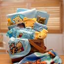 Gift Basket 890492-B Winnie The Pooh New Baby Basket - Blue