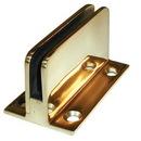 1/4 Glass Clip Flat Back POL BRASS