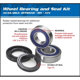 All Balls WBK-25-1536 Front And Rear Wheel Bearing