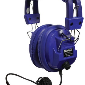 "Hamilton Kids Blue, Deluxe Stere/Mono Headphone with 1/8"" Plug and 1/4"" Adapter and Volume Control"