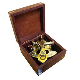 Handcrafted Model Ships Scout's Brass Sextant 4""