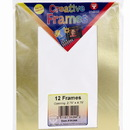 Hygloss 34284 Frames - Gold, 12 ct., Medium