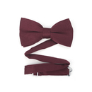 TopTie Mens Formal Solid Burgundy Satin Bow Tie, Breast Cancer Awareness