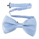 TopTie Mens Formal Solid Light Blue Satin Bow Tie
