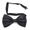 TopTie Mens Solid Black Pretied Satin Bowtie Bow Tie