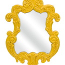IMAX 47381 Finely Yellow Baroque Wall Mirror