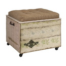 IMAX 47472 Evelyn Crate Storage Ottoman