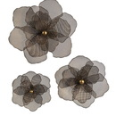 IMAX 87229-3 Astaire Flower Wall Decor - Set of 3