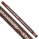 Exselle Fancy Stitched Laurel Leaf Brow Band Chestnut