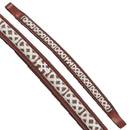 Exselle Fancy Stitched Celtic Knot Brow Band Chestnut