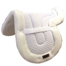 Intrepid International EXQFWL Pad Saddle Shaped Lg. Quilted W/Fleece Bottom White