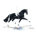Haddington Green Equestrian Art Jan Kunster Horse Prints - Las Vegas (Dressage)