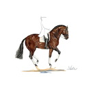 Haddington Green Equestrian Art Jan Kunster Horse Prints - Belle Epoque (Dressage)