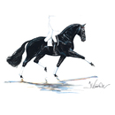 Jan Kunster Horse Prints - Las Vegas (Dressage)