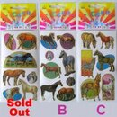Intrepid International Gold Trimmed Horse Stickers