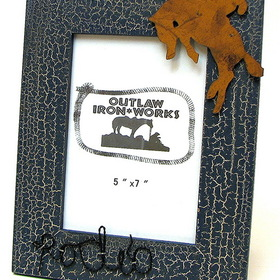 IWGAC 0126S-11533B Cowboy Rodeo Blue Picture Frame