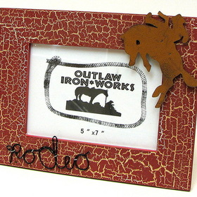 IWGAC 0126S-11533C Cowboy Rodeo Red Picture Frame
