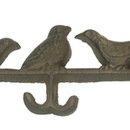 IWGAC 0170S-01518 Cast Iron Bird Hat Coat Rack Set of 2