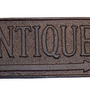 IWGAC 0170S-07470 Cast Iron Rust Plaque 'Antiques'