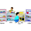 Rainbow Accents 0406JCWW008 TODDLER REFRIGERATOR - RED