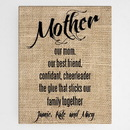 JDS CA0130 Personalized Mother Canvas Sign