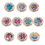 GOGO Hand Bag Purse Hook Hanger, Colorful Flowers With Diamonds, Assorted Colors, Price/6 Pcs
