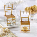 Kate Aspen 18108NA Gold Chiavari Gold Chair Favor Box (Set of 24)