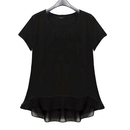 TopTie Women's Round Neck Baby Doll Jersey Tee Top T-Shirt Blouse
