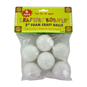 Foam craft balls (assorted sizes), Price/package