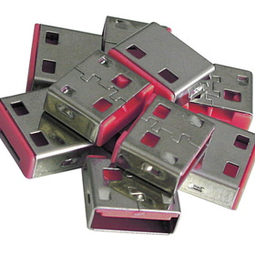 LINDY 40460 USB Port Blocker (without key) - Pack of 10, Color Code: Pink