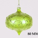 LEDgen WL-ONION-80-LG 3In Matte Lime Green Onion Ornament With Olive Glitter Accents
